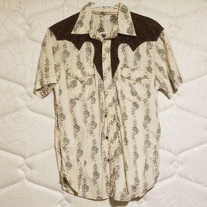 Arizona jean short sleeve snap down shirt
